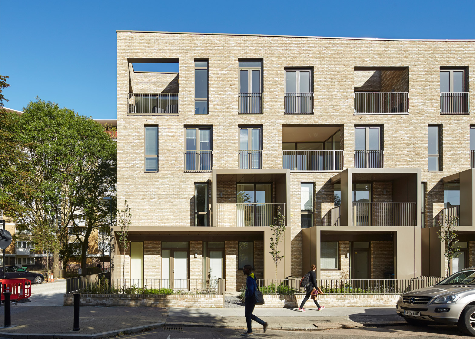 Ely Court, South Kilburn by Alison Brooks Architects Ltd and Hester Architects. Photograph by Paul Riddle