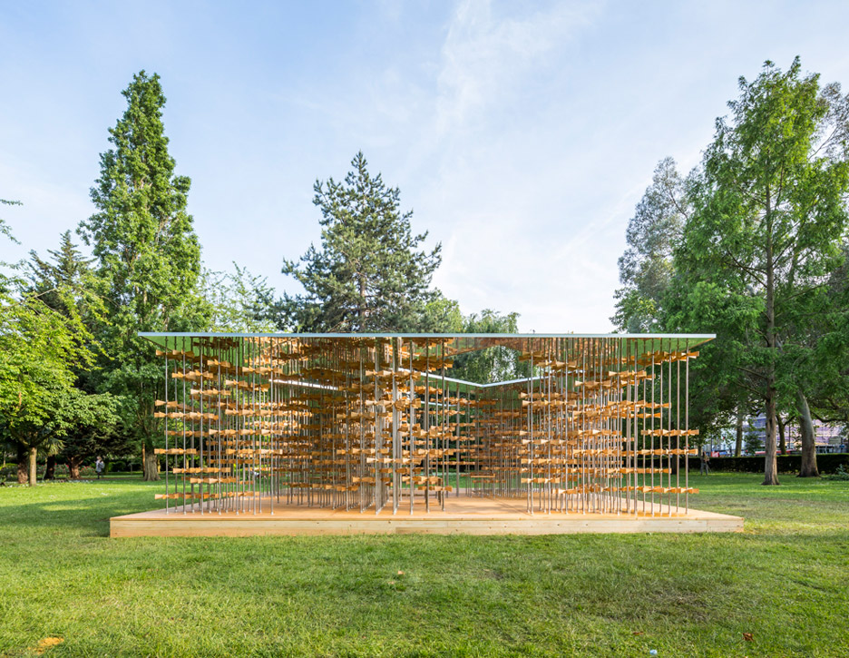 This years Triumph Pavilion by Five Line Projects is based on the theme Energy