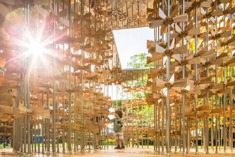 Five Line Projects builds London pavilion filled with spinning propellers