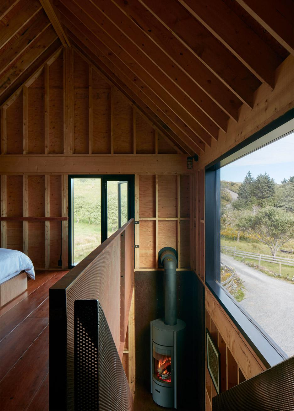 Enough house weathering steel cabin in Nova Scotia by Brian Mackay Lyons
