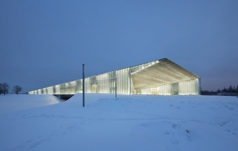 Estonian National Museum by DGT appears to take off from the end of a disused runway