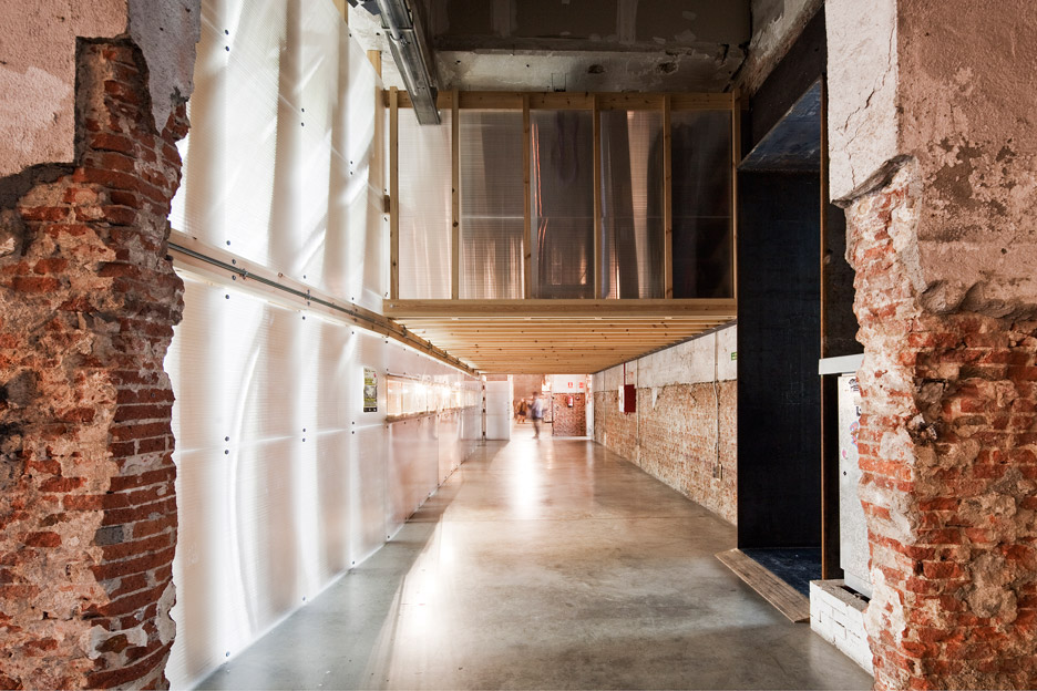 Factoria Cultural Matadero in Madrid by Office for Strategic Spaces repurposes a disused industrial building as a working space