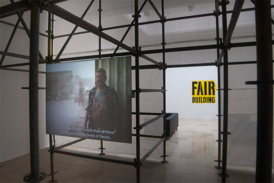 Fair building exhibition and installation at the Polish pavilion for the Venice Architecture Biennale 2016. Photograph by Maciej Jelonek