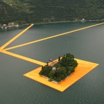 Christo's Floating Piers stretch out across an Italian lake