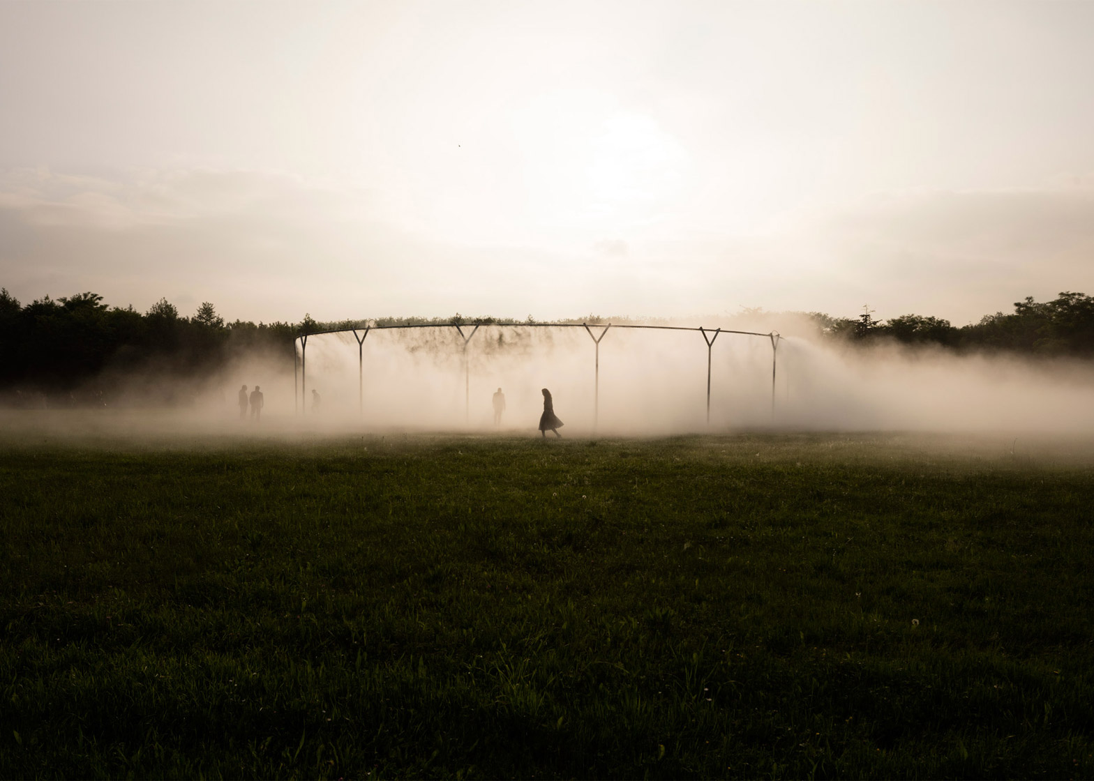 Fog Assembly by Olafur Eliasson at the Palace of Versailles, France