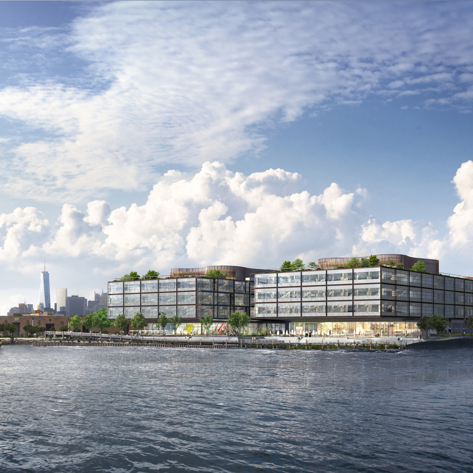 Foster + Partners' waterfront office development for Red Hook, Brooklyn
