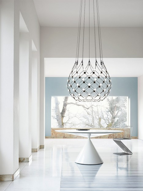 Daniel Rybakken and Francisco Gomez Paz create dramatic chandeliers for Luceplan