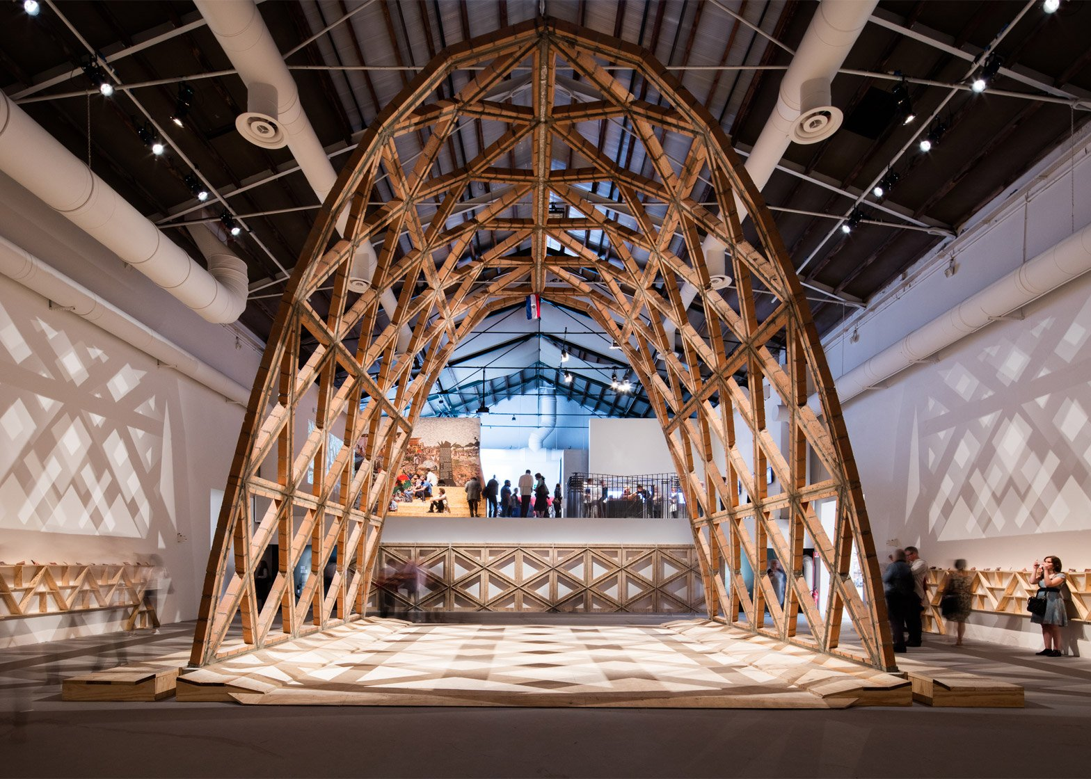 Gabinete de Arquitectura's arch in the Giardini's Central Pavilion for the Venice Architecture Biennale 2016