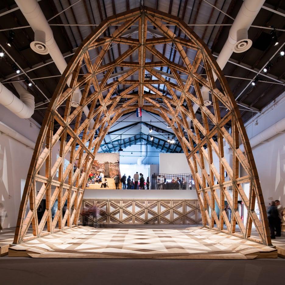 Gabinete de Arquitectura's arch in the Giardini's Central Pavilion for the Venice Architecture Biennale 2016