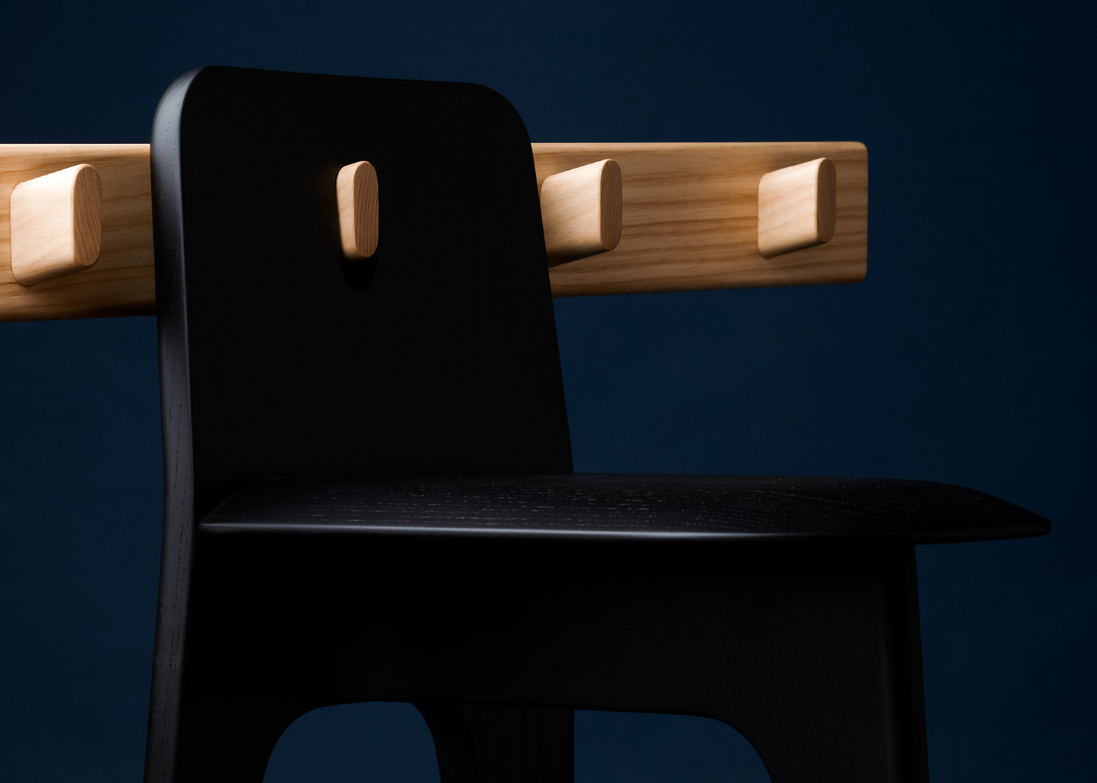 Gabriel Tan's Stove chair and Domino peg rail for Furnishing Utopia exhibition