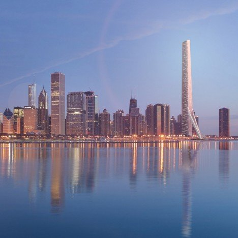 Gensler unveils skyscraper design for site of Calatrava's ill-fated Chicago Spire