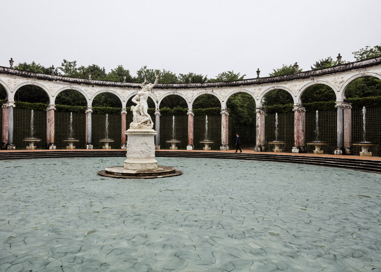 Glacial Rock Flour Garden by Olafur Eliasson at the Palace of Versailles, France