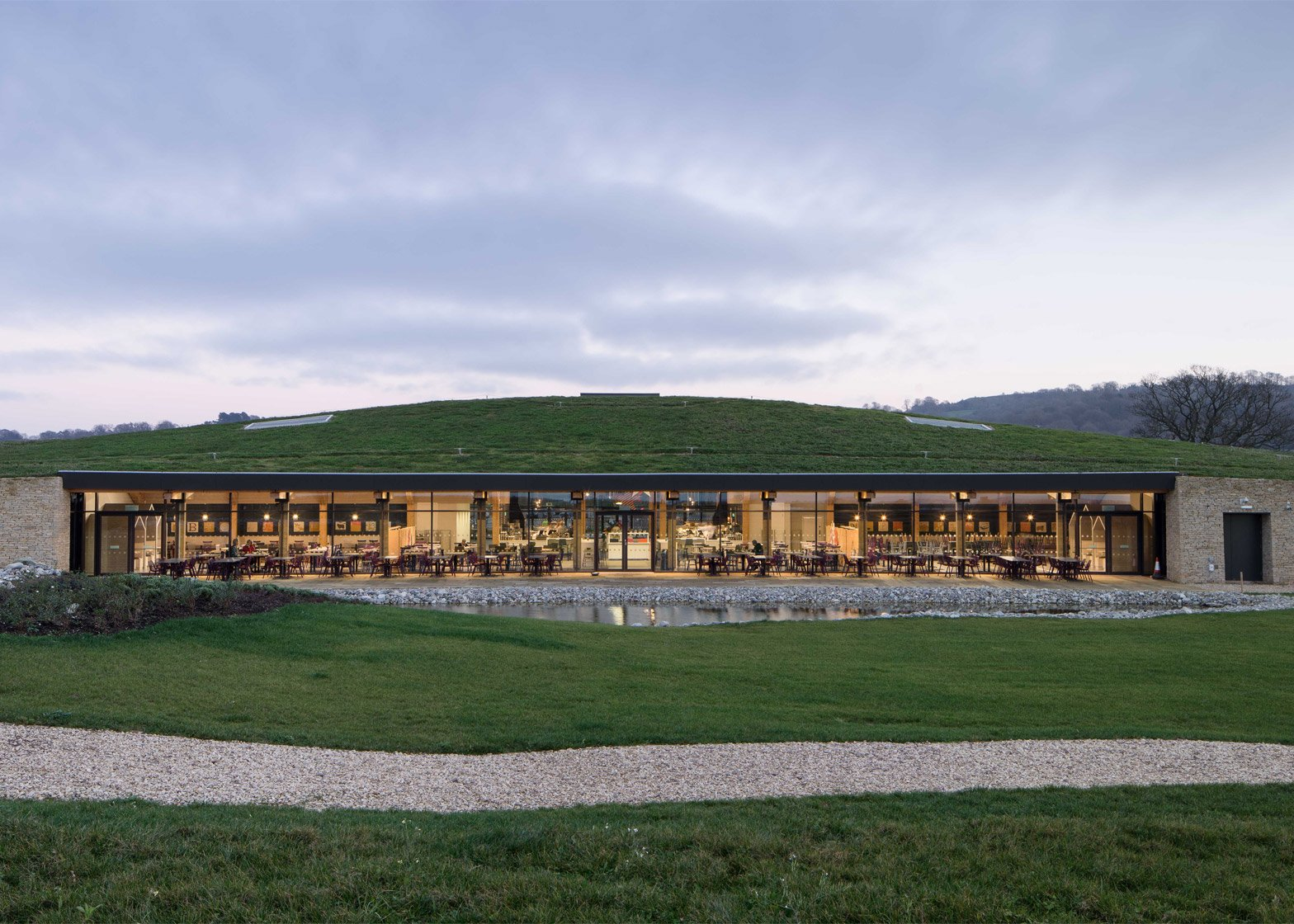 Gloucester Services by Glenn Howells Architects. Photograph by Paul Miller