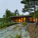 Ian MacDonald hides island cottage in Ontario within a pine forest