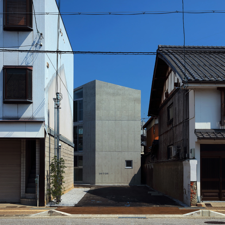 Alphaville's Hikone Studio Apartments are housed in an angular concrete block