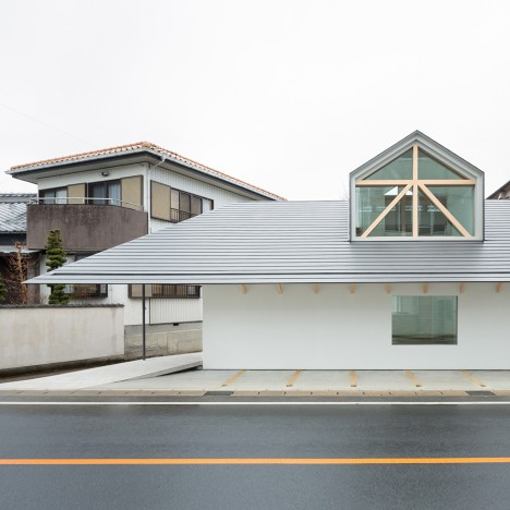 Hiroki Tominaga Atelier completes Japanese retirement home featuring a huge dormer window