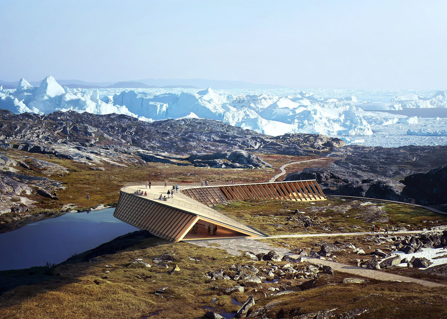 Danish studio Dorte Mandrup reveal climate change centre in Greenland