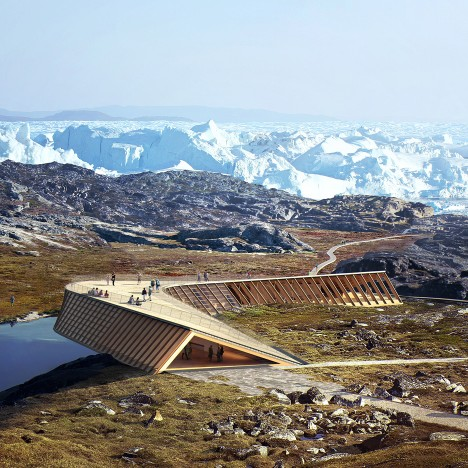 Dorte Mandrup unveils plans for tent-like climate research centre in Greenland