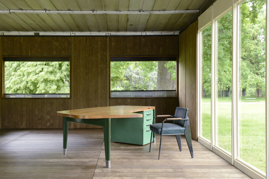 Jean Prouvé's demountable office on display at Design Miami/Basel