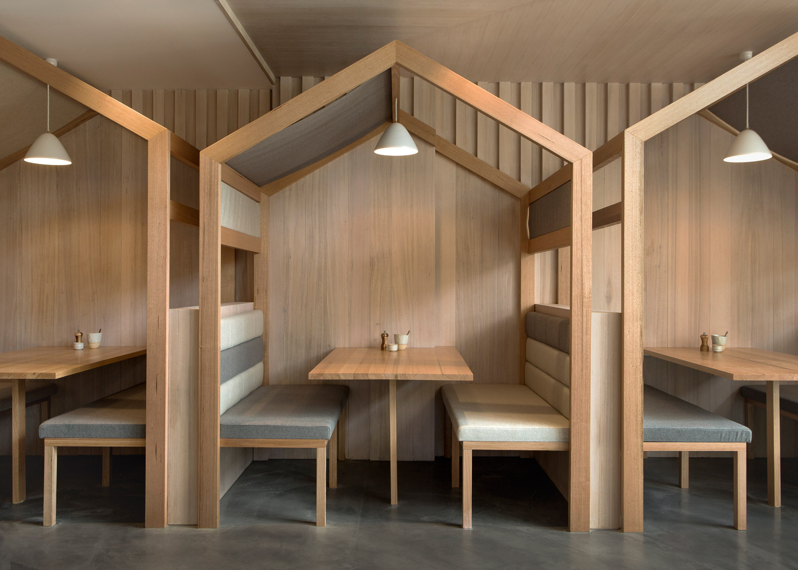 The Kitty Burns restaurant in Melbourne by Biasol Design Studio