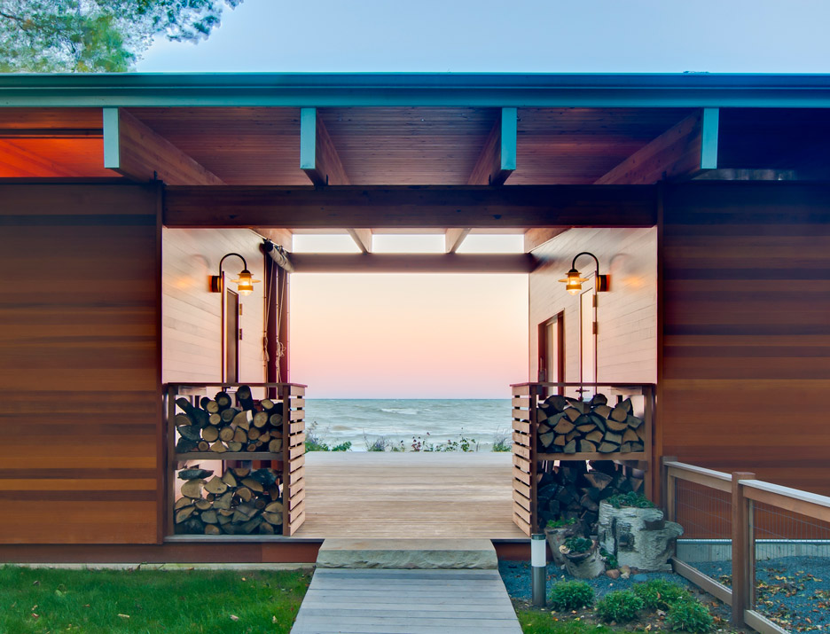 Lake Michigan Beach Cottage by Ramsey Jones in Wisconsin, USA