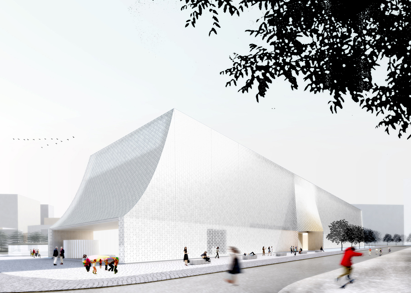 Designs by Adjaye and Henning Larsen revealed on Latvian Museum of Contemporary Art shortlist