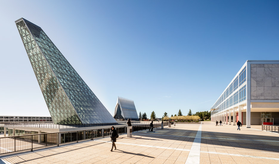 Centre of Leadership for a US Air Force base designed by Skidmore Owings and Merrill