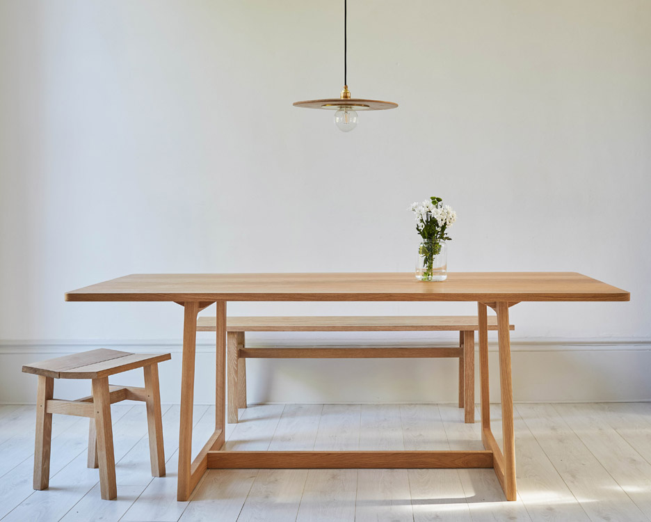 New range of furniture and lighting by Liam Treanor explores traditional crafting techniques