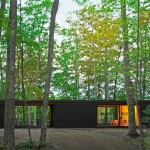 Johnsen Schmaling clads cabin in a Wisconsin forest with blackened pine