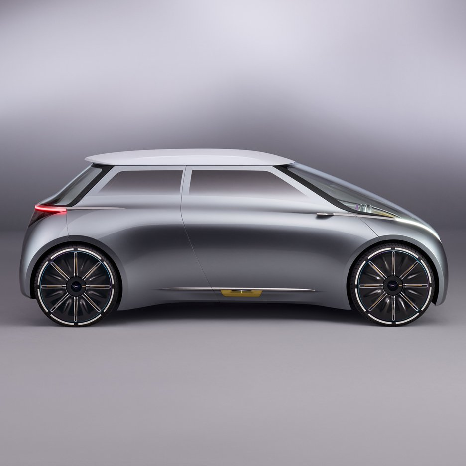 BMW's MINI Vision Next 100 concept car changes colour depending on the driver's mood