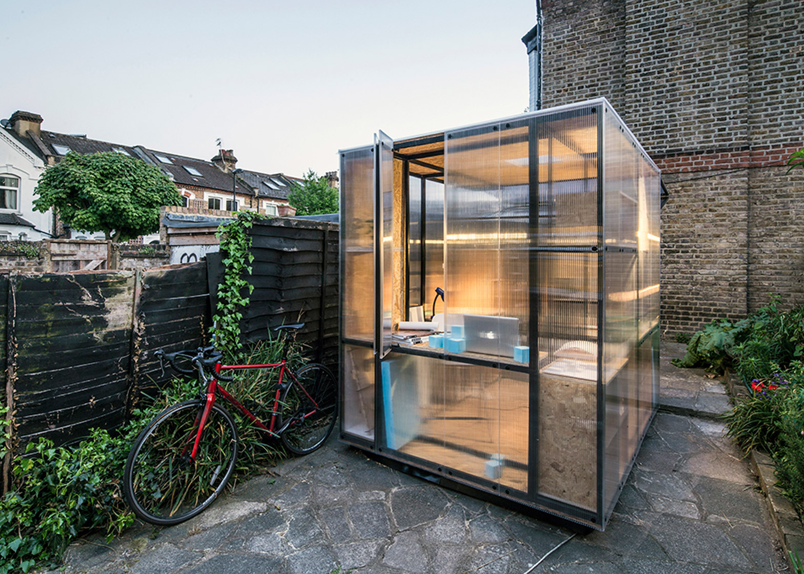 Architects Tomaso Boano and Jonas Prišmontas design a miniture pop up stidio to raise awareness of London's housing issues