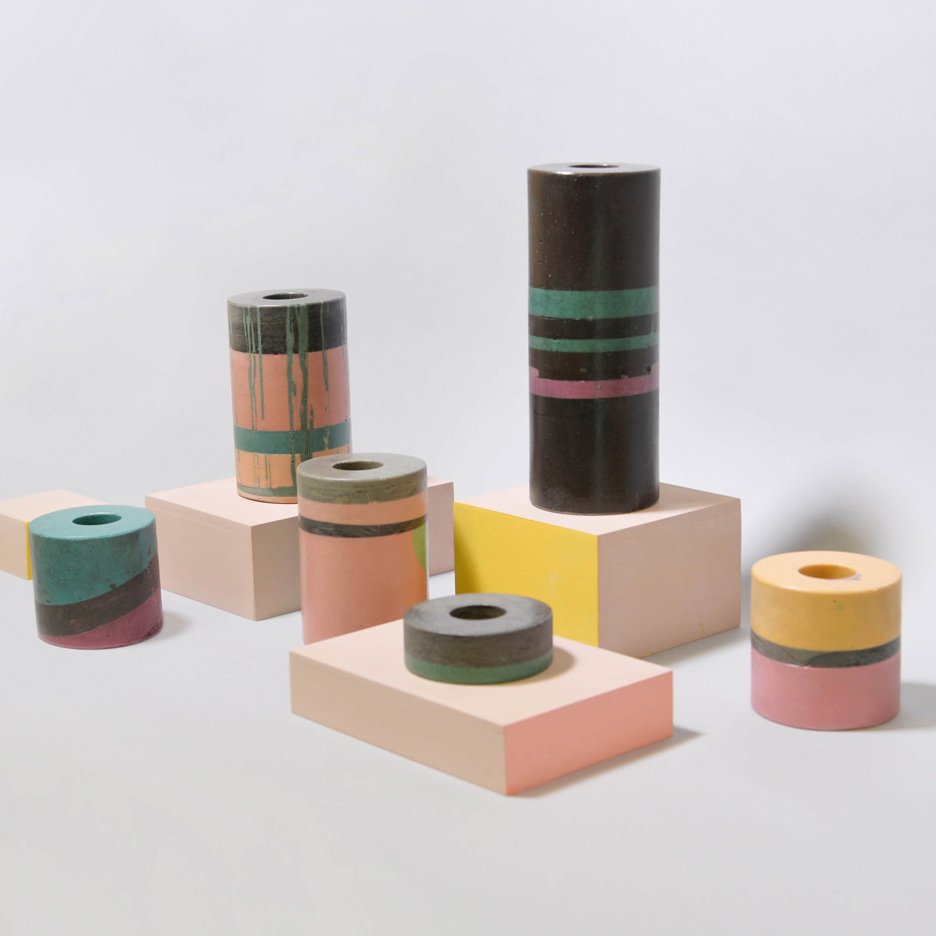 Mi Zhang uses mining dust to create colourful vases