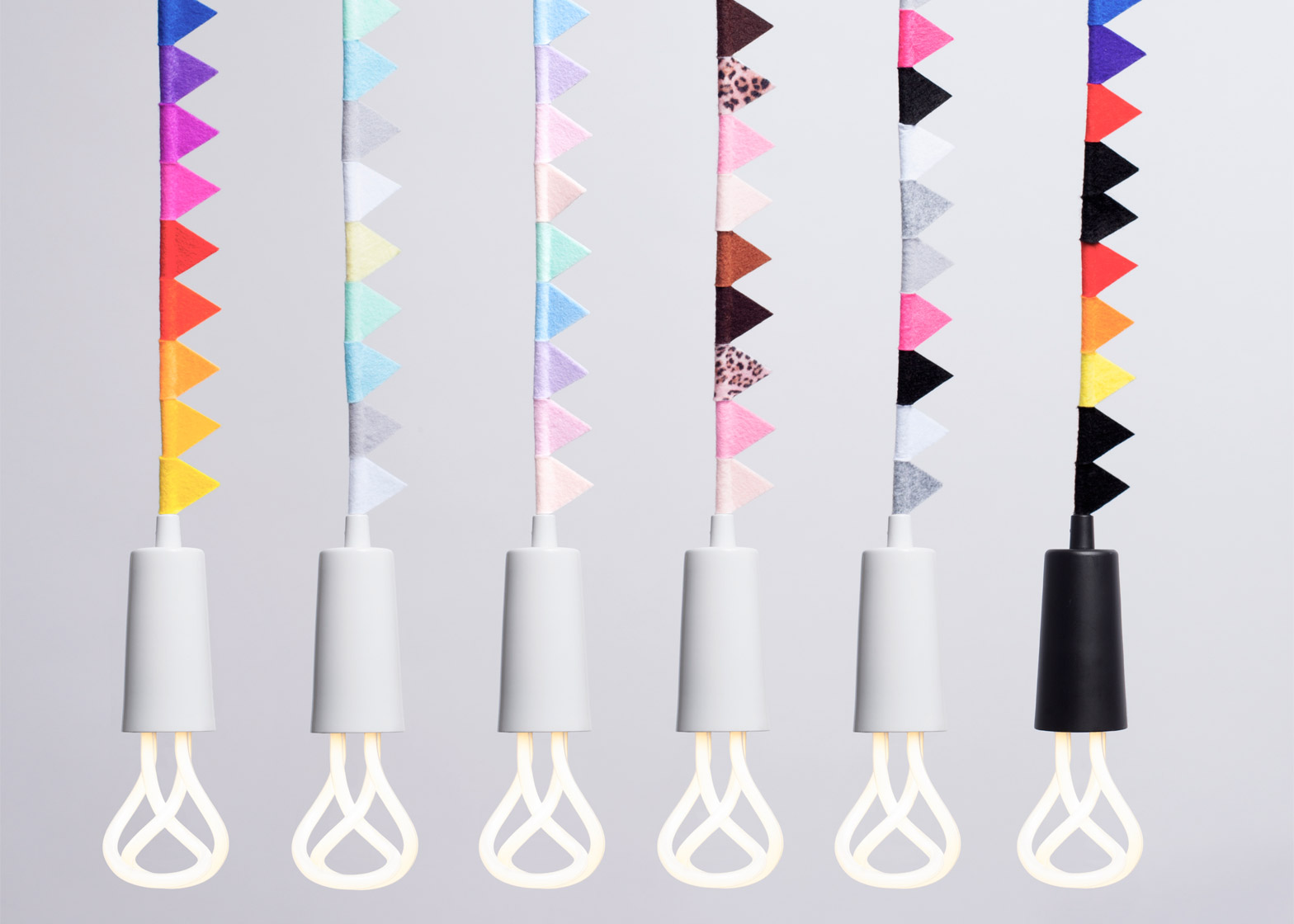 1 of 9 modern family collection by plumen adds bunting to its classic pendant lights childrens pendant lighting