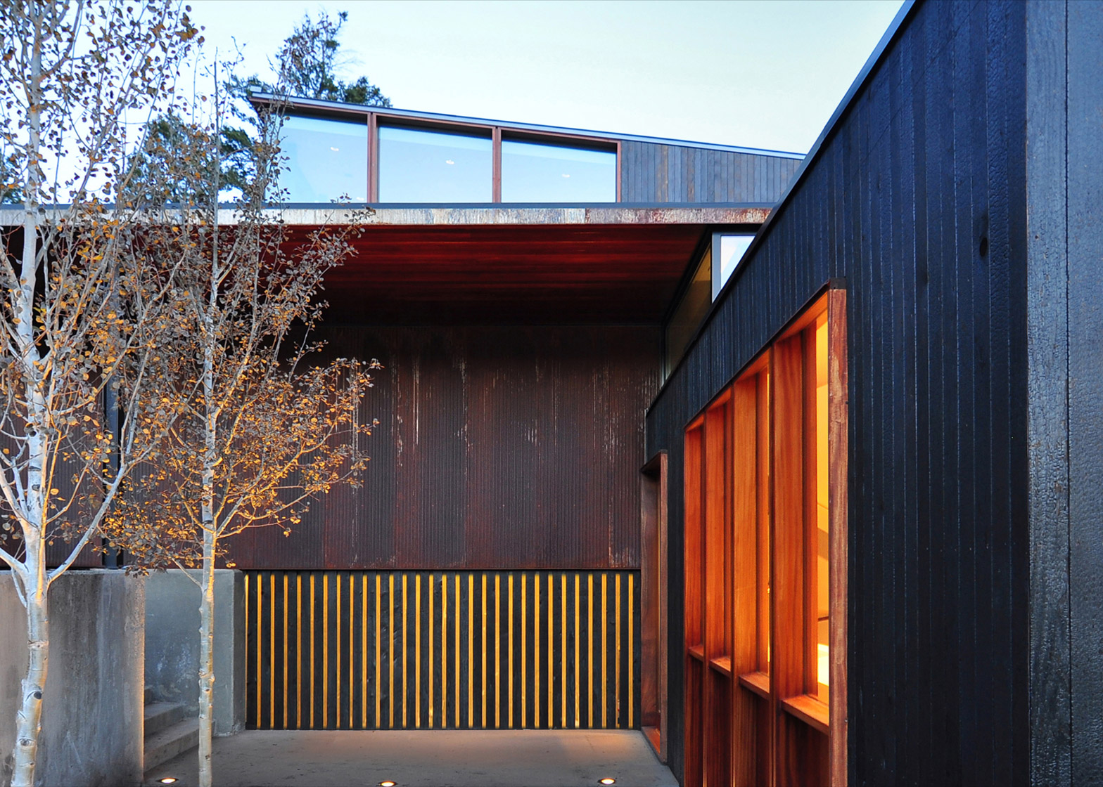 The Mountain House in Montana by Johnsen Schmaling Architects is clad with charred wood