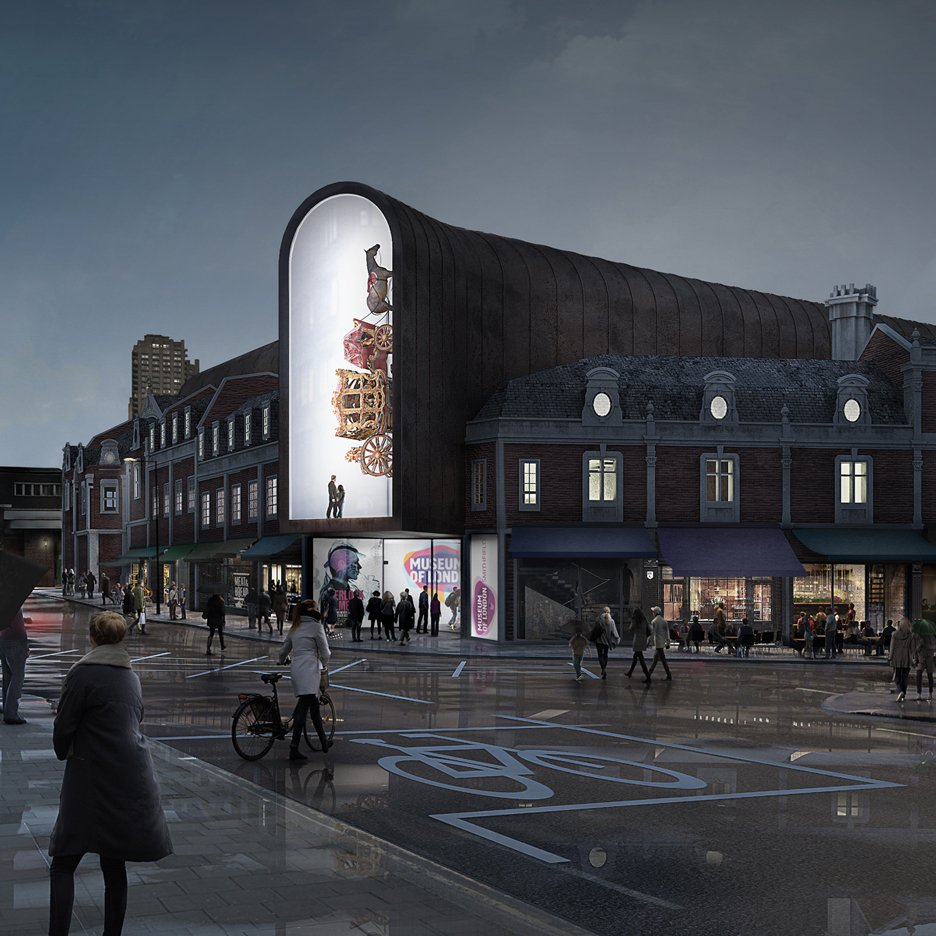 Competition entry for the new Museum of London building, UK by BIG