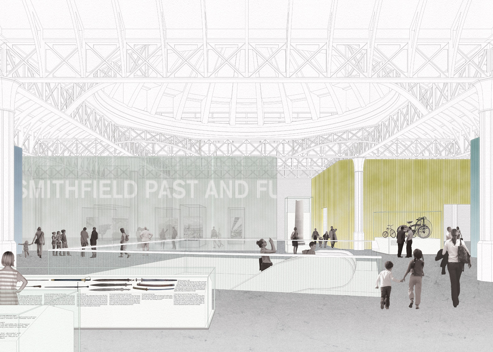 Competition entry for the new Museum of London building, UK by Caruso St John