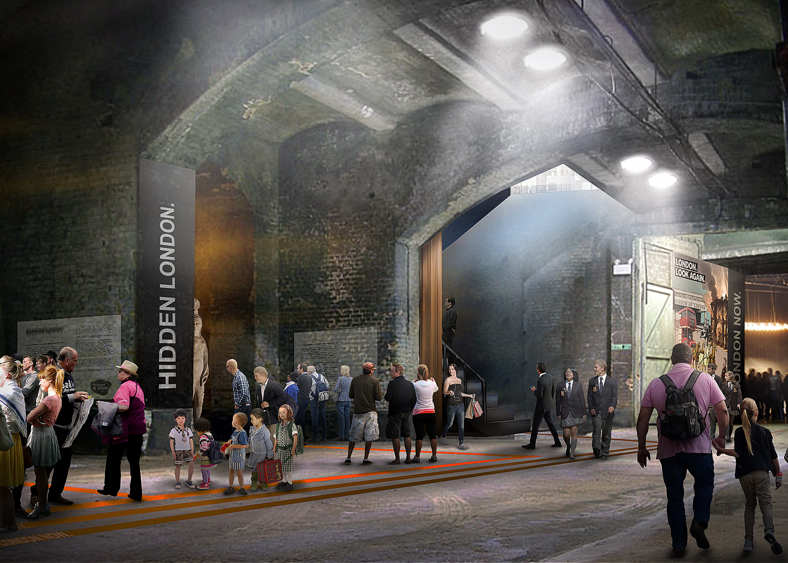 Competition entry for the new Museum of London building, UK by Lacaton & Vassal Architectes