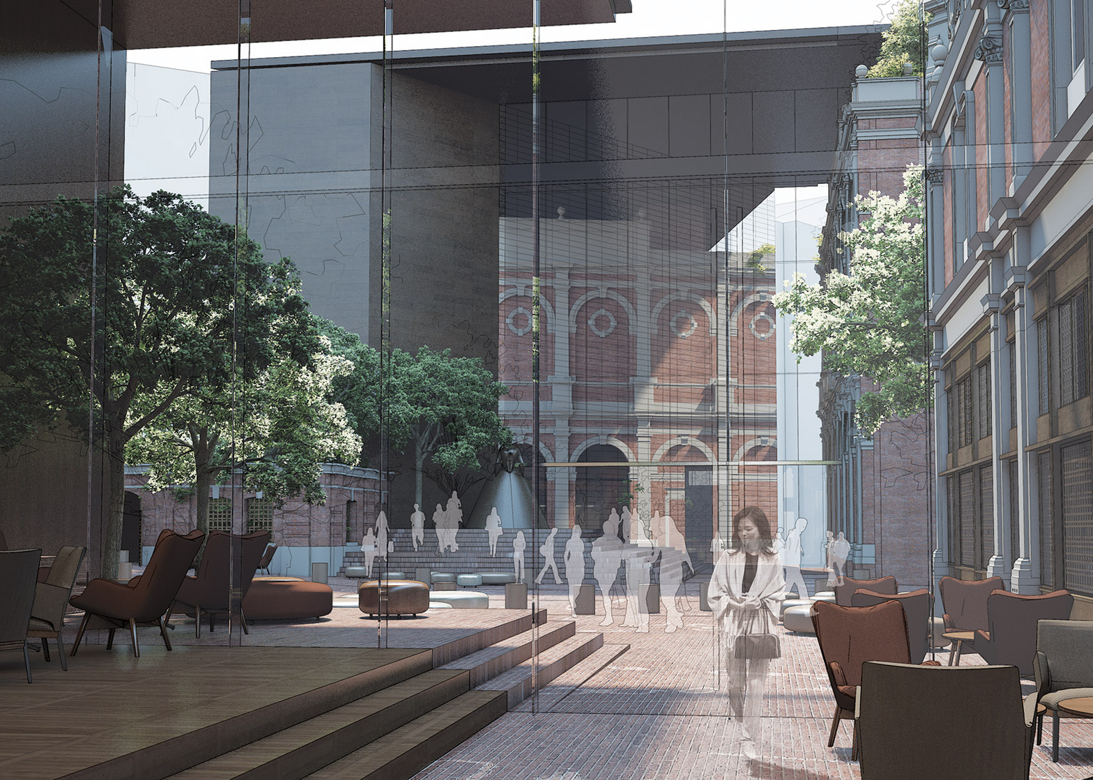 Competition entry for the new Museum of London building, UK by Studio Milou architecture