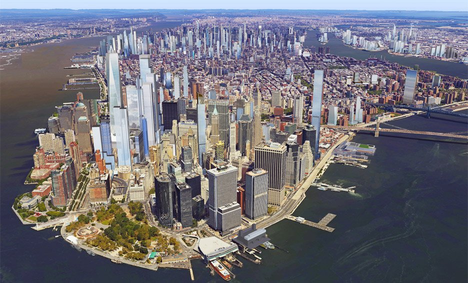 Visualisation of the New York skyline in 2020