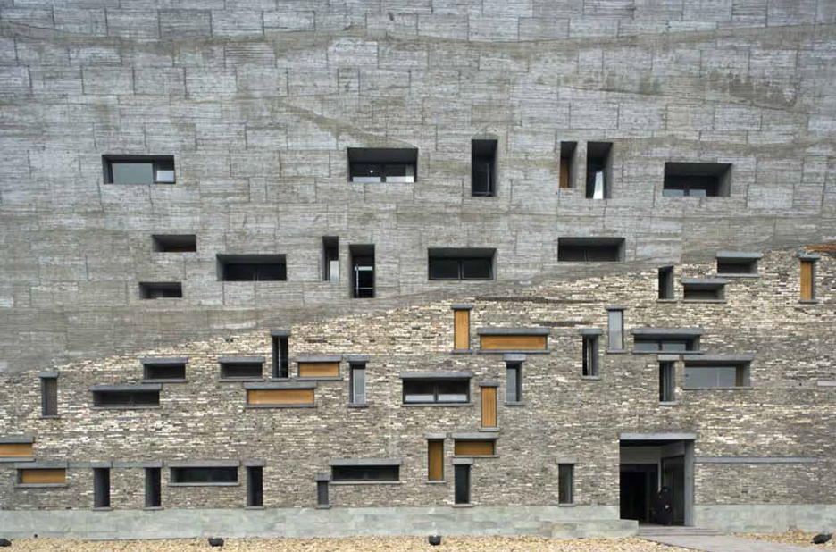 Lu and Wang's Ningbo History Museum was constructed almost entirely out of recycled bricks