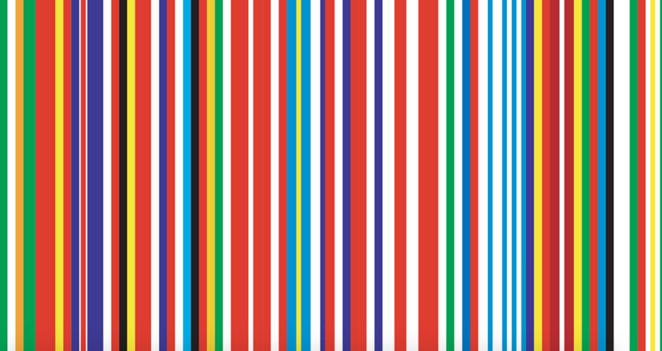 OMA's colourful EU Barcode flag