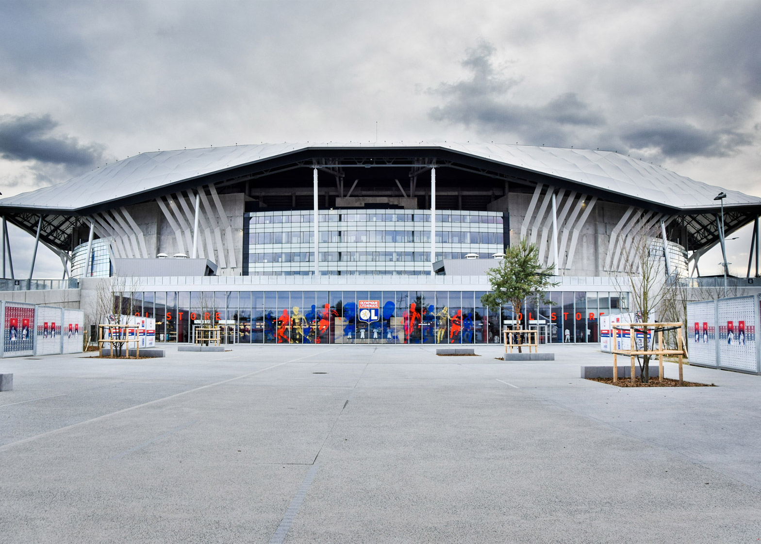 Parc Olympique Lyonnais by Populous in Lyon, France, stadium architecture for Euro 2016