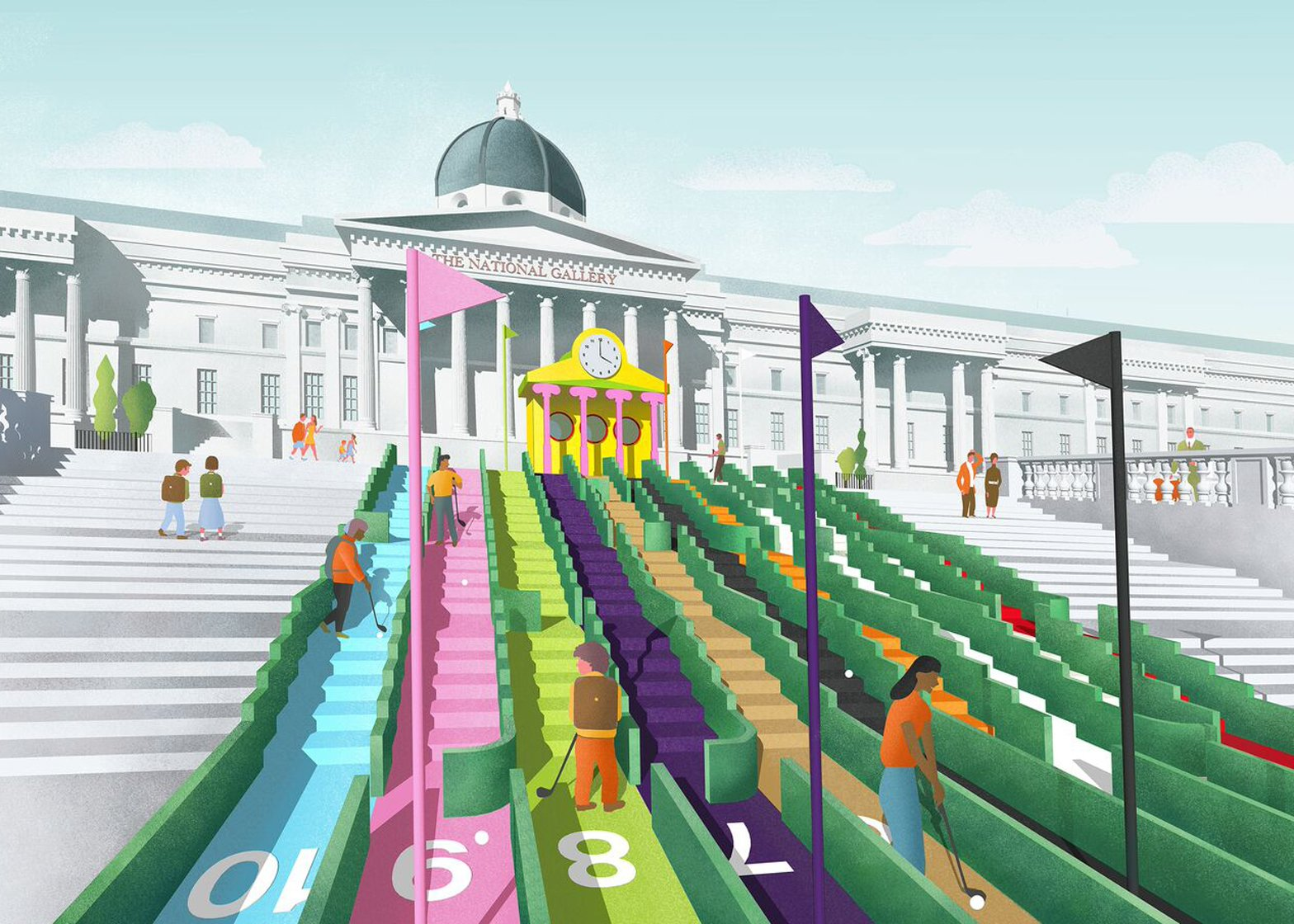 Visionary Crazy Golf at London Design Festival