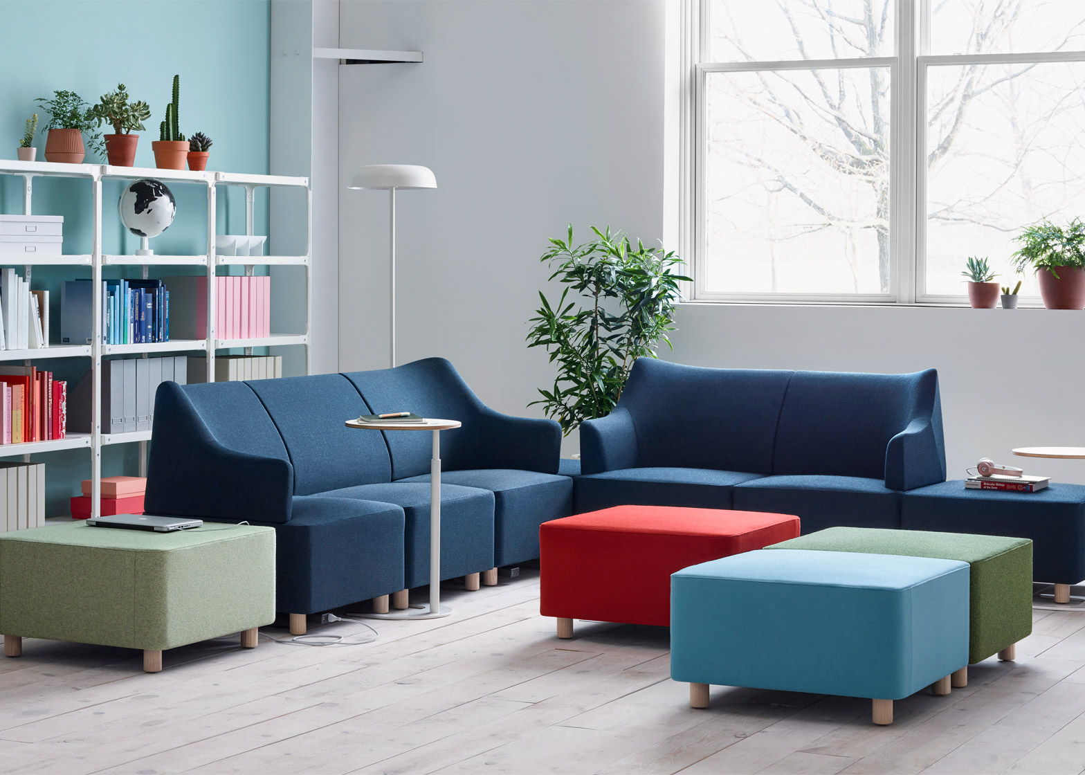 Beautiful  of Plex modular lounge system designed by Industrial Facility for Herman Miller shown at NeoCon