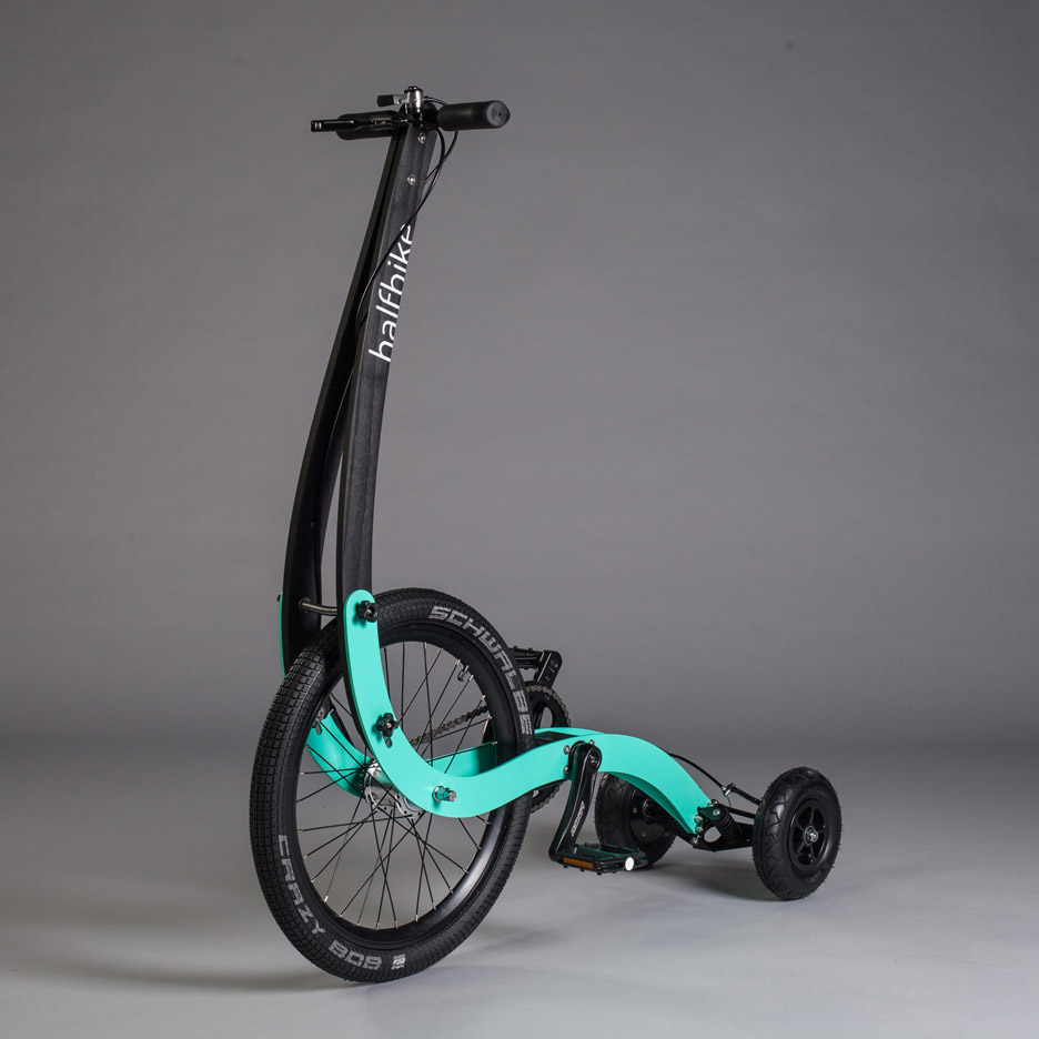 Kolelinia updates design for Halfbike pedal-powered scooter