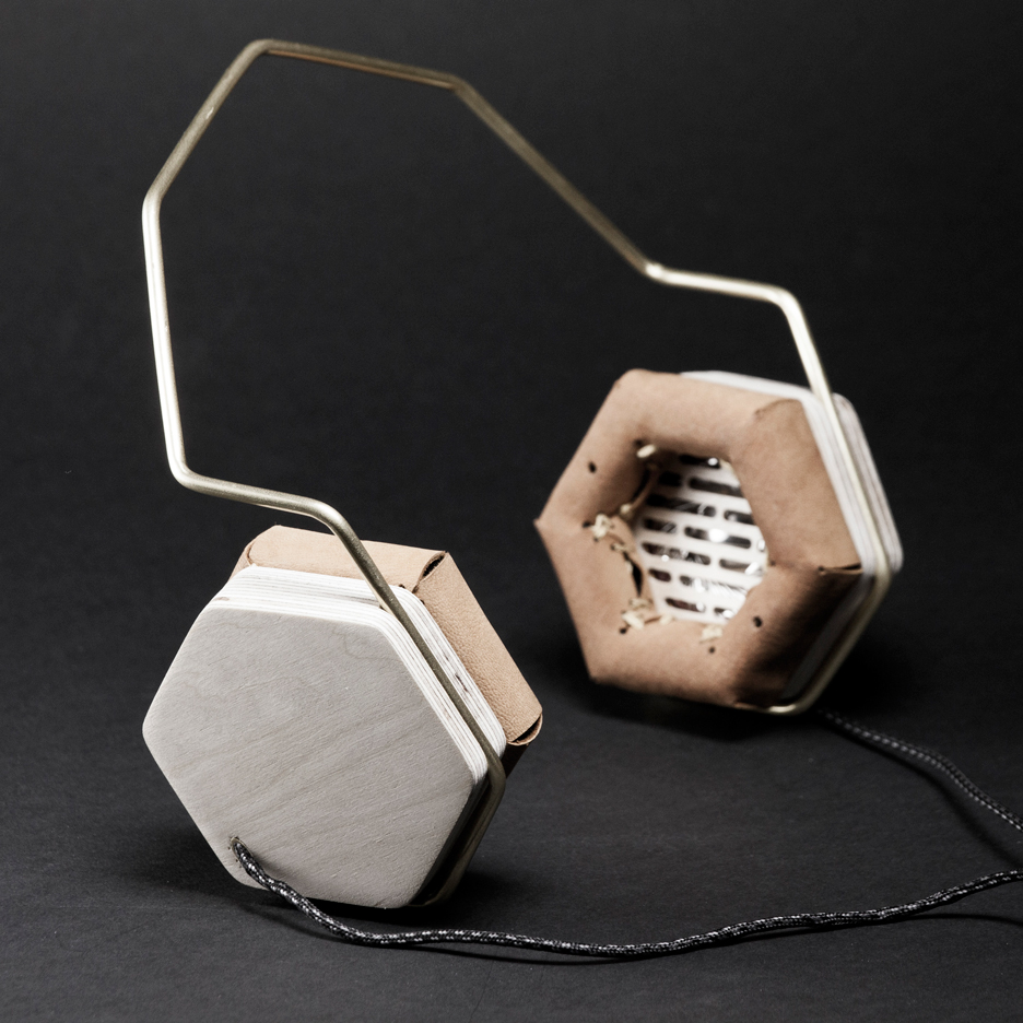 Wooden headphones by Prototip studio