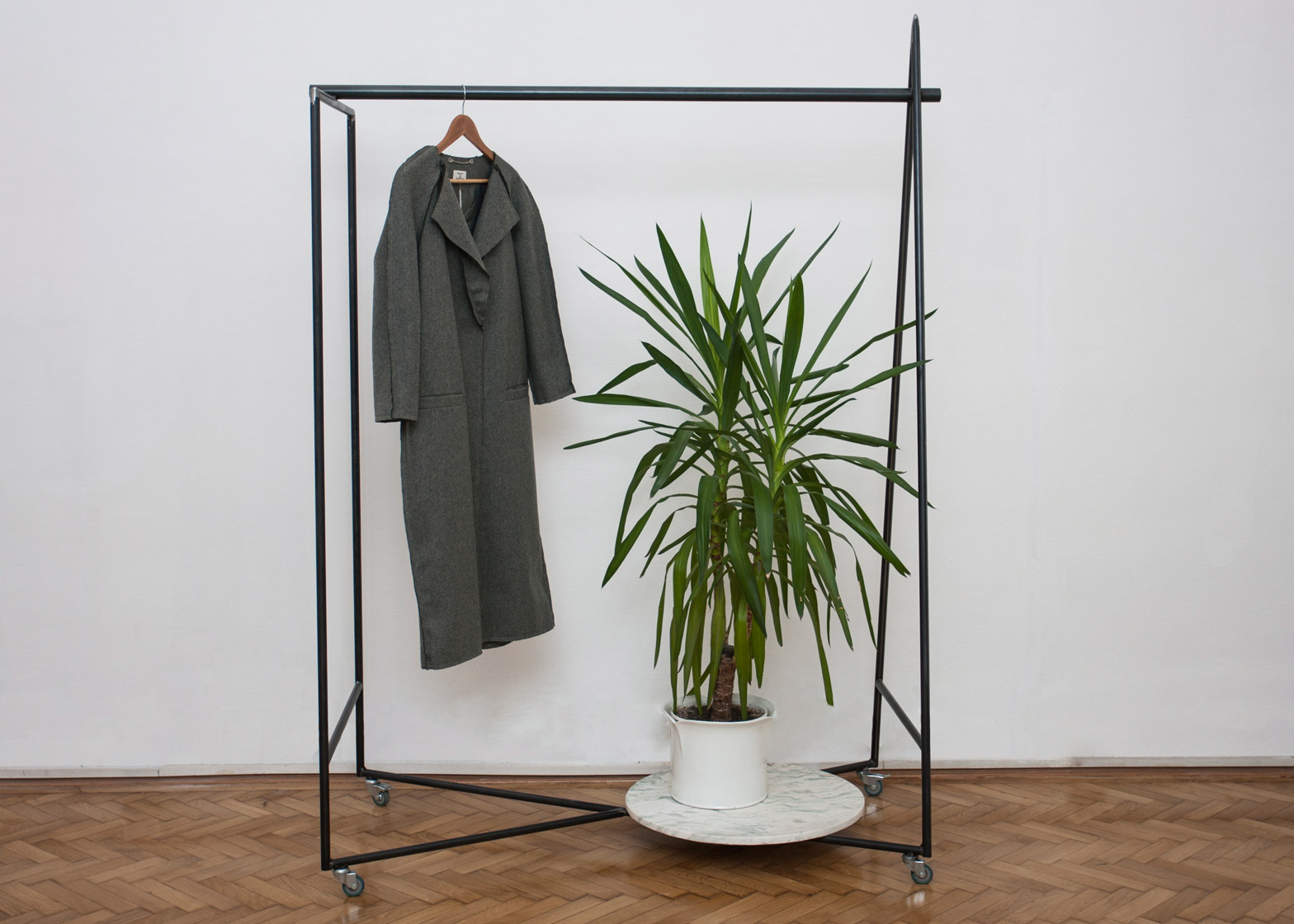 Geometry clothes stand by Radu Abraham