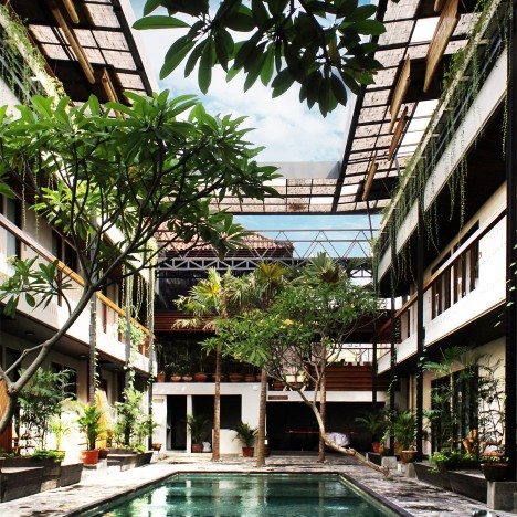 Alexis Dornier completes co-living complex in Bali with communal areas on its roof