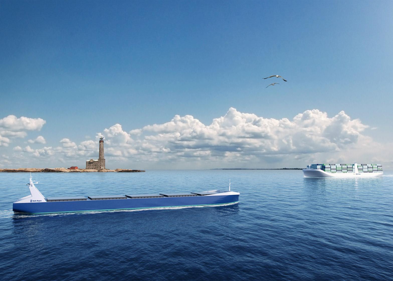 Rolls Royce unveil autonomous cargo ship concept