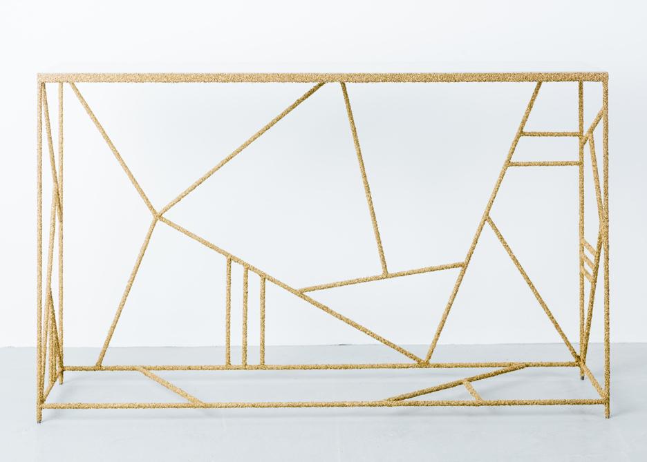 Samuel Amoia's brass shavings console